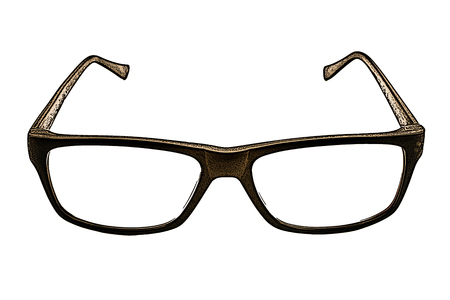 ilustración de gafas en el fondo blanco