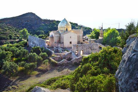 zakynthos: Church and monastery ruins in Zakynthos, Greece Stock Photo