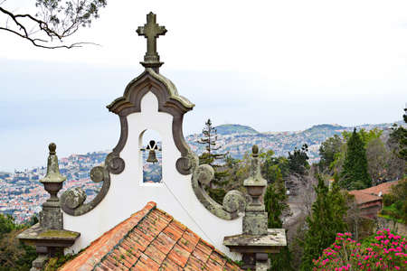 senhora: Church of Nossa Senhora do Monte, Madeira Stock Photo
