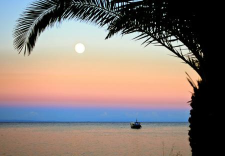 zakynthos: Sunset and Moonrise in Zakynthos, Greece