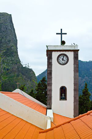 nuns: Church tower in Nuns Valley, Madeira, Portugal