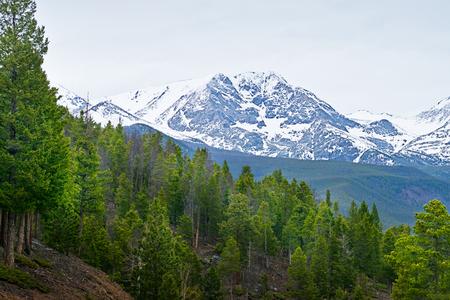 rocky mountains colorado: Rocky mountains in the spring in Colorado