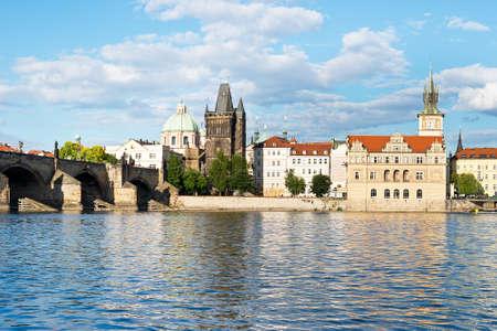 vltava: Vltava River with Charles Bridge in Prague