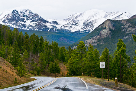 rocky mountains: Road in rocky mountains in the Colorado