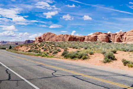 drive through: Drive Through in Arches National Park; Utah;USA