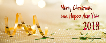 Christmas Background with Writing Merry Christmas and Happy New Year Banco de Imagens - 90947762