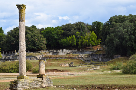 Ruins of Roman Villa in Brijuni Island in Croatia.