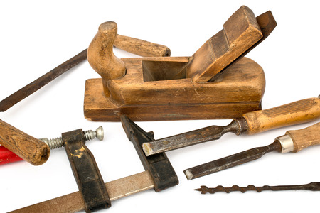 Joinery Tools Isolated on the white Background