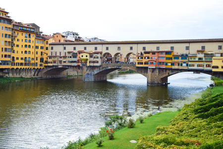 Ponte Vecchio in Florence in Italy.