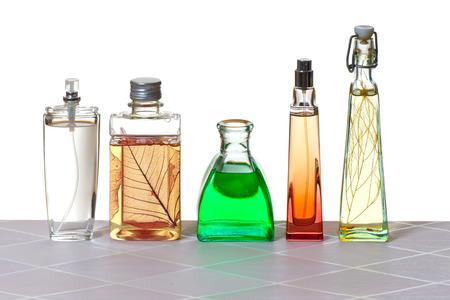 Care cosmetics in the bathroom on the white background 版權商用圖片