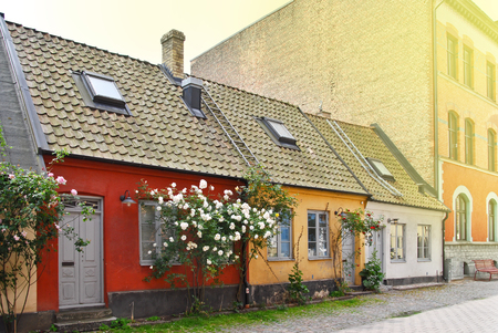 Small houses in Malmo. Sweden.