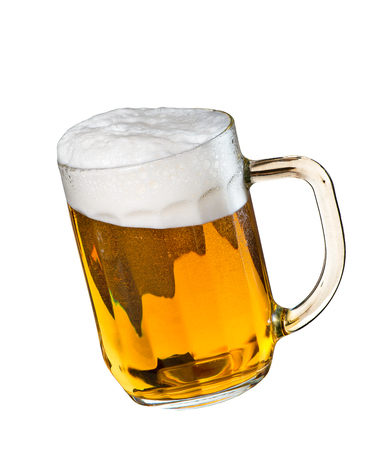 Beer glass isolated on the white background 写真素材