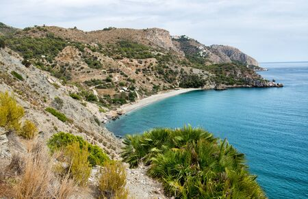 Natural beach in Andalucía. Spain. Europe. Imagens