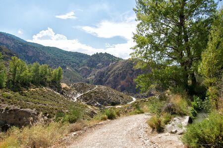 Landscape in Sierra Nevada in Spain