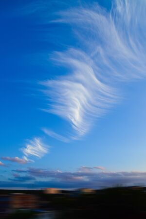 Cloud on the blue sky