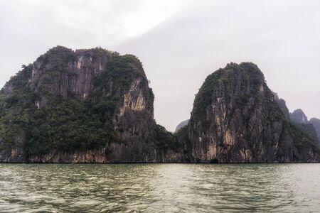 halong: View over Halong bay in Vietnam.