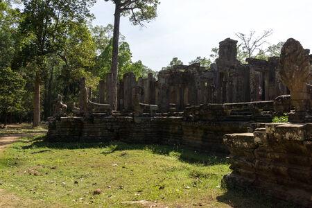 bayon: Bayon temple and ruins in Siem Reap.