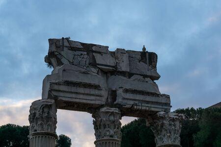 roman column: Roman column architecture in Roman forum.