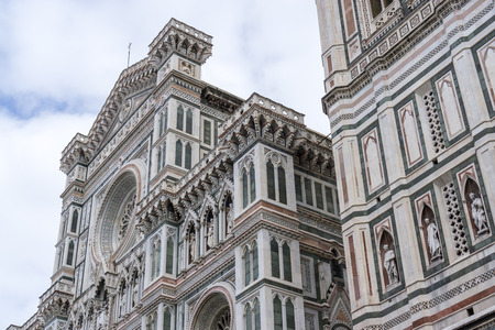 viewed: Duomo viewed from nearby square. Florence, Italy