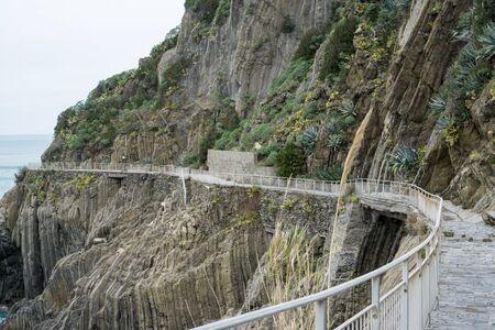 amore: Via dell amore a hiking trail connecting from riomaggiore to manarola.