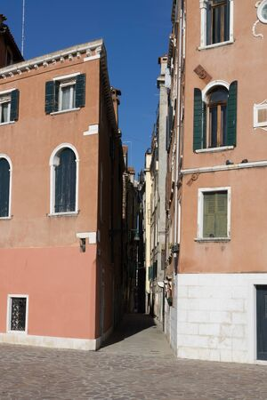midday: Small alleway in Venice taken during midday