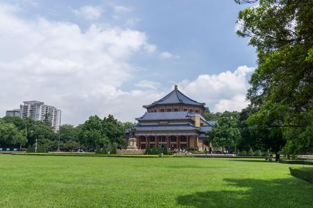 sen: doctor sun yat sen memorial hall in guangzhou china taken during summer.