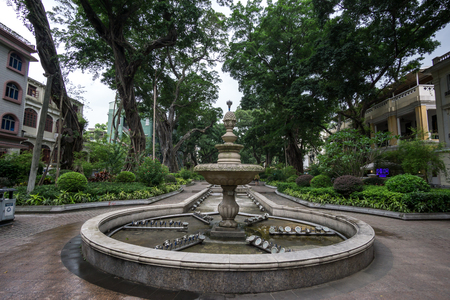 colonial: Shamian Island old colonial architectures in guangzhou china near liwan istrict.