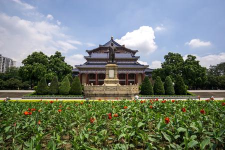 yat sen: doctor sun yat sen memorial hall in guangzhou china taken during summer.