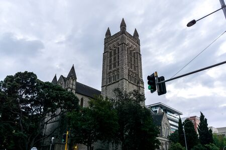anglican: st matthew anglican church in central business district of auckland. Auckland, new zealand. Stock Photo