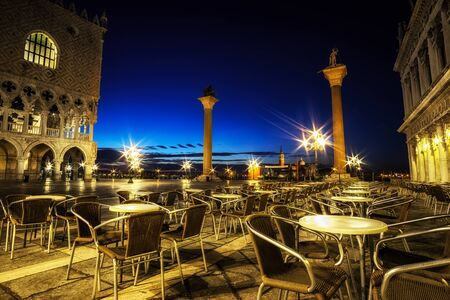 Saint marks square and doge palace in Venice, Italy Stock Photo