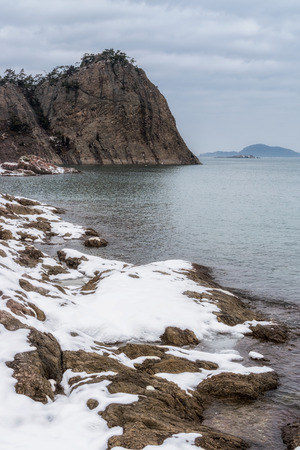 jangja island coastal view. Jangja island is part of seonyudo islands in gunsan, south korea. Taken during winter time.