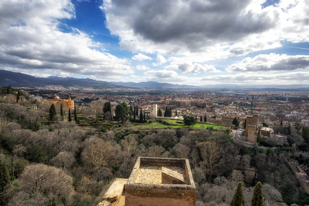 View of the city granada in Spain.