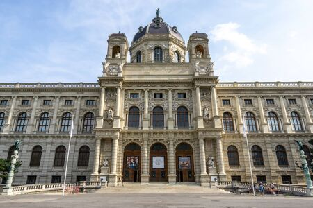 the main entrance to the kunsthistorisches museum wien or art history museum in vienna, austria. Taken on 2019 august 29th. Redakční