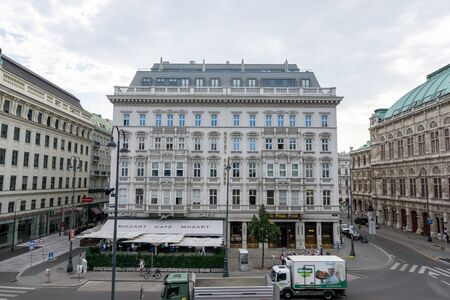 old historic buildings of vienna city in the inner city center area. Taken on August 30th 2019 Redakční