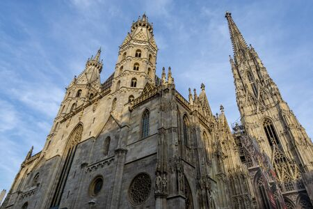 saint stephens cathedral in vienna or also called stephansdom taken from outside