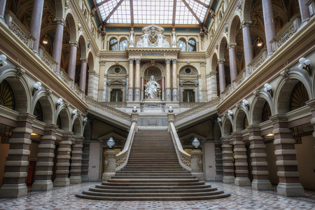 The palace of justice main lobby or interior taken in vienna, austria. Also caled Justizpalast it is seat of the supereme court of austria.