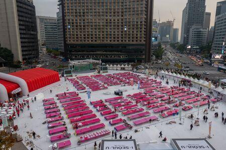 seoul kimchi festival taken in front of seoul cityhall.