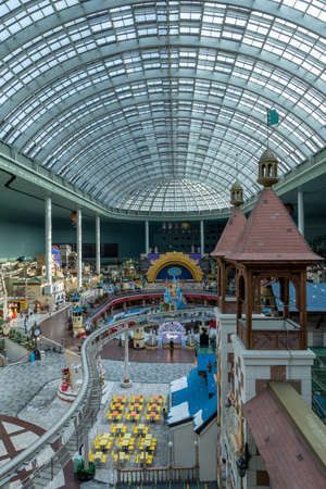 Lotte world adventure indoor amusement park view. Major indoor theme park in Seoul, South Korea. Editorial