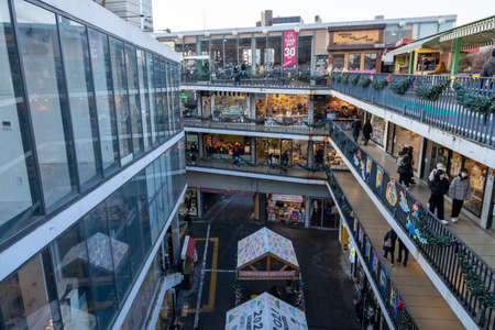 Insadong Ssamziegil shopping mall complex. Famous tourist attraction in Seoul, South Korea.