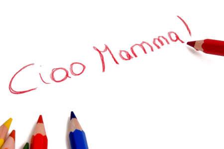 ciao mamma drawing photo