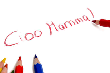 ciao: ciao mamma drawing