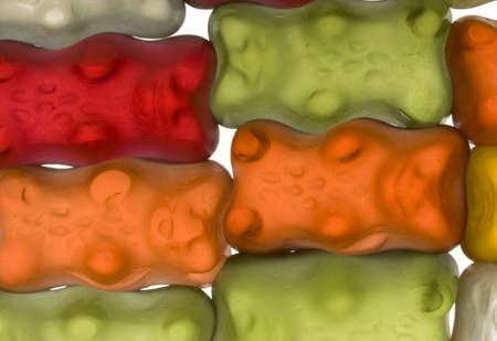 gelatine: Sweet gelatine bears backround