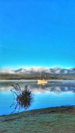 anau: Lake Te Anau New Zealand