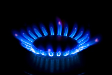 gas cooker: burner Stock Photo