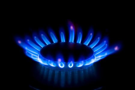 estufa: quemador Foto de archivo