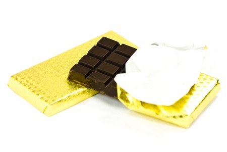 chocolates on white background photo
