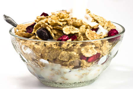 cereals with red fruits photo