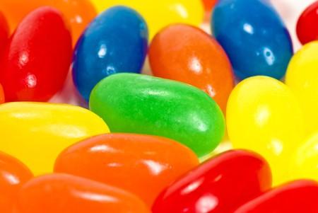 sugary: candies on white background Stock Photo