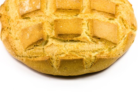 fresh bread on white background photo