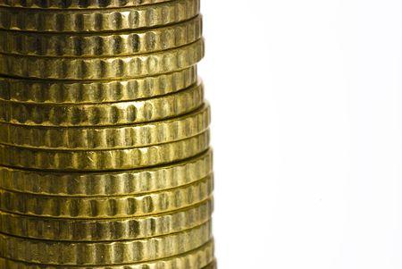 euro coins on white background Stock Photo - 4901302